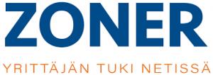 Zoner logo ja linkki verkkosivuille.