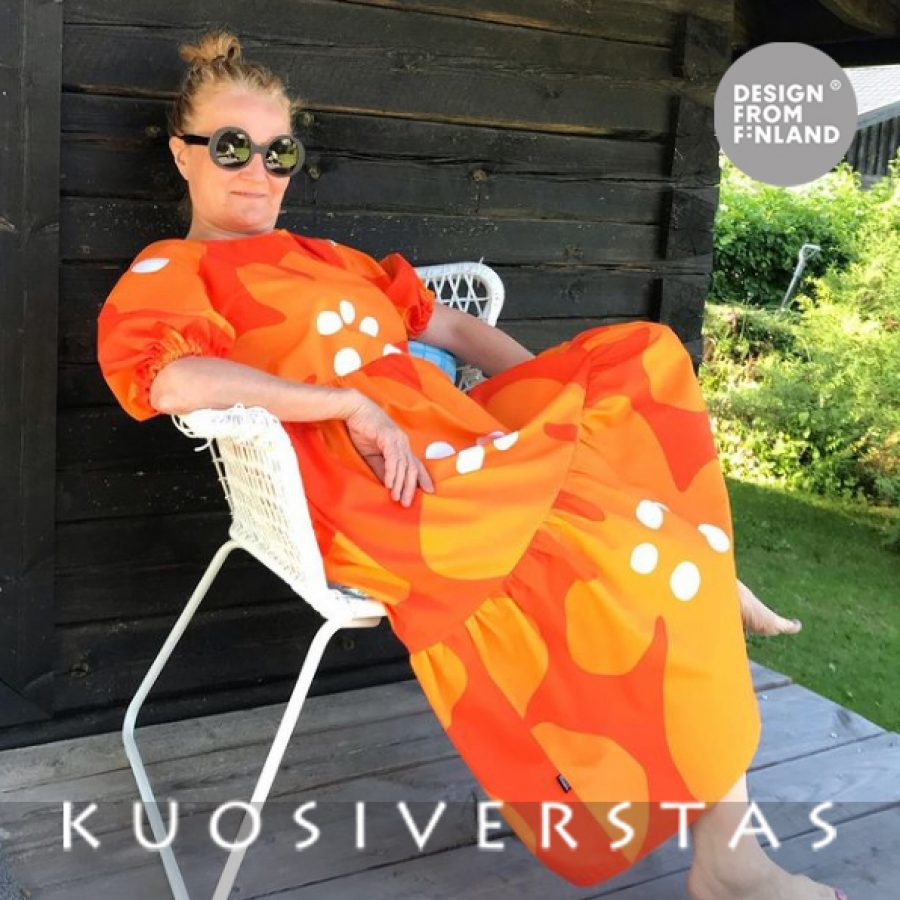 Jättivuokko-mekko oranssi, Tiina-Liisa Valtokari fb teealxx DFF-2206af6f