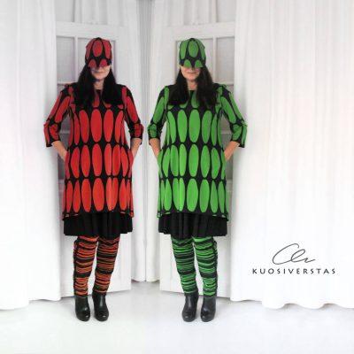 Jyvä+Aava-asut, vihreä ja punainen-5e04d094