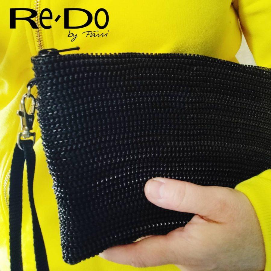 Re-Do laukku vetoketjuista musta-0115899a