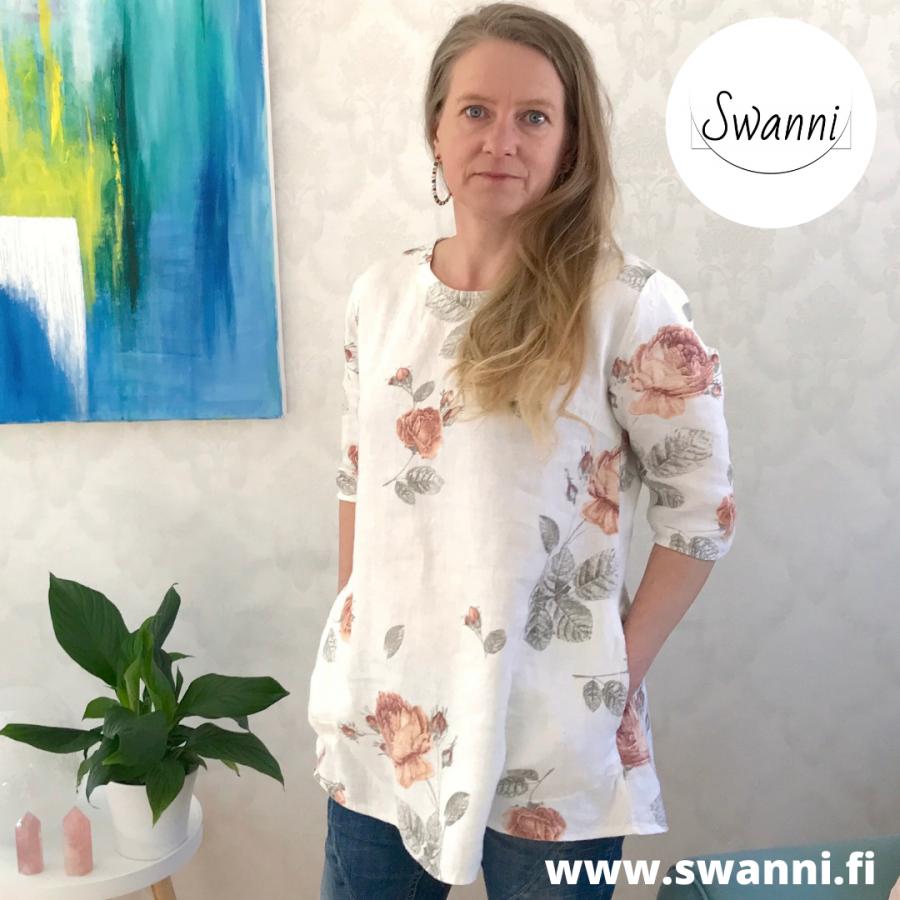 www.swanni.fi_pellavatunika_lyhyt_mitoitus_alle 160cm_ruusukuosi_taskullinen tunika_kässämessut_-fa8e51ef